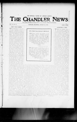 Primary view of object titled 'The Chandler News. (Chandler, Okla.), Vol. 13, No. 19, Ed. 1 Thursday, January 28, 1904'.