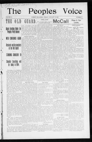 The Peoples Voice (Norman, Okla.), Vol. 12, No. 29, Ed. 1 Friday, January 29, 1904