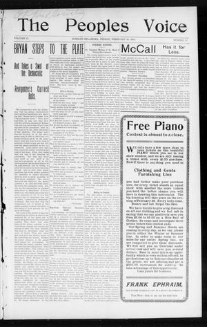 The Peoples Voice (Norman, Okla.), Vol. 12, No. 33, Ed. 1 Friday, February 26, 1904