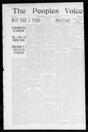 Primary view of object titled 'The Peoples Voice (Norman, Okla.), Vol. 12, No. 34, Ed. 1 Friday, March 4, 1904'.