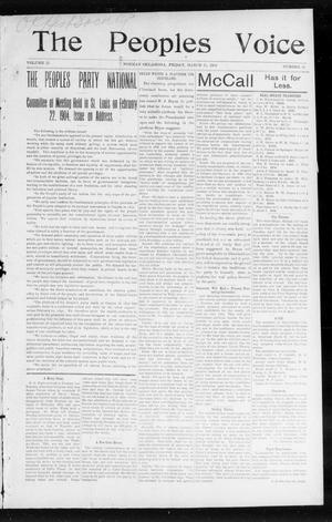 The Peoples Voice (Norman, Okla.), Vol. 12, No. 35, Ed. 1 Friday, March 11, 1904