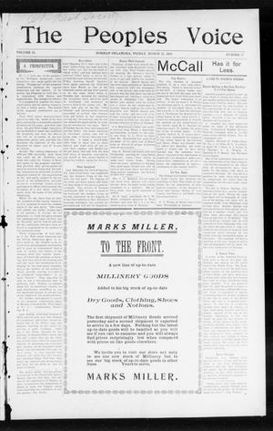 The Peoples Voice (Norman, Okla.), Vol. 12, No. 37, Ed. 1 Friday, March 25, 1904