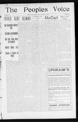 The Peoples Voice (Norman, Okla.), Vol. 12, No. 41, Ed. 1 Friday, April 22, 1904