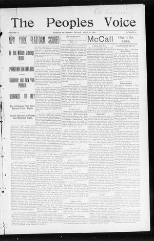 The Peoples Voice (Norman, Okla.), Vol. 12, No. 42, Ed. 1 Friday, April 29, 1904