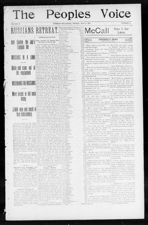 Primary view of object titled 'The Peoples Voice (Norman, Okla.), Vol. 12, No. 43, Ed. 1 Friday, May 6, 1904'.