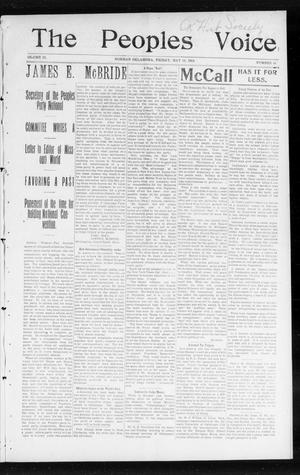The Peoples Voice (Norman, Okla.), Vol. 12, No. 44, Ed. 1 Friday, May 13, 1904