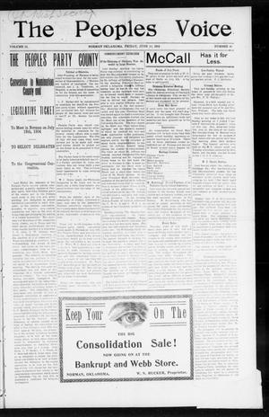 The Peoples Voice (Norman, Okla.), Vol. 12, No. 48, Ed. 1 Friday, June 10, 1904