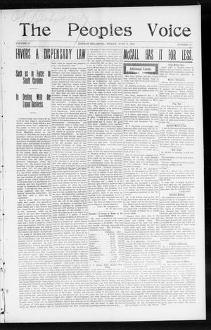 The Peoples Voice (Norman, Okla.), Vol. 12, No. 49, Ed. 1 Friday, June 17, 1904