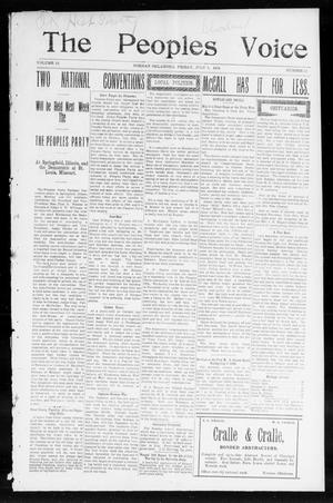 The Peoples Voice (Norman, Okla.), Vol. 12, No. 51, Ed. 1 Friday, July 1, 1904