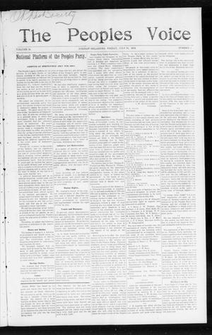 The Peoples Voice (Norman, Okla.), Vol. 13, No. 2, Ed. 1 Friday, July 22, 1904