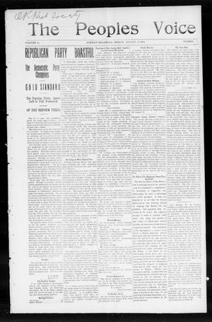 The Peoples Voice (Norman, Okla.), Vol. 13, No. 5, Ed. 1 Friday, August 12, 1904