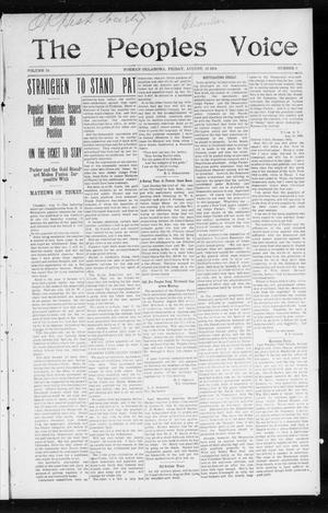 The Peoples Voice (Norman, Okla.), Vol. 13, No. 6, Ed. 1 Friday, August 19, 1904