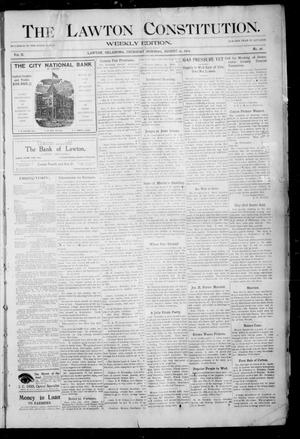 Primary view of object titled 'The Lawton Constitution. (Lawton, Okla.), Vol. 2, No. 26, Ed. 1 Thursday, August 25, 1904'.