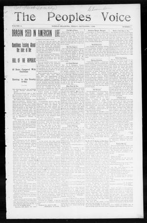 The Peoples Voice (Norman, Okla.), Vol. 13, No. 8, Ed. 1 Friday, September 2, 1904