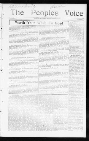 Primary view of object titled 'The Peoples Voice (Norman, Okla.), Vol. 13, No. 16, Ed. 1 Friday, October 28, 1904'.