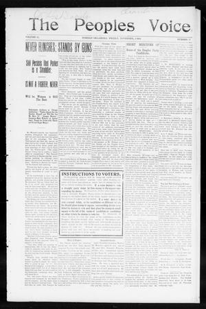 Primary view of object titled 'The Peoples Voice (Norman, Okla.), Vol. 13, No. 17, Ed. 1 Friday, November 4, 1904'.