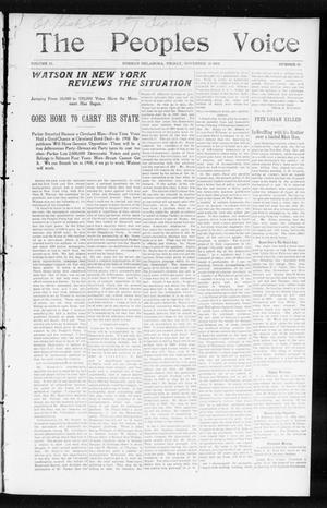 The Peoples Voice (Norman, Okla.), Vol. 13, No. 20, Ed. 1 Friday, November 25, 1904