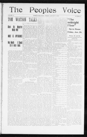 The Peoples Voice (Norman, Okla.), Vol. 13, No. 28, Ed. 1 Friday, January 20, 1905