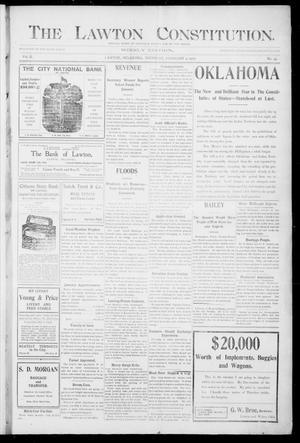 Primary view of object titled 'The Lawton Constitution. (Lawton, Okla.), Vol. 2, No. 49, Ed. 1 Thursday, February 9, 1905'.