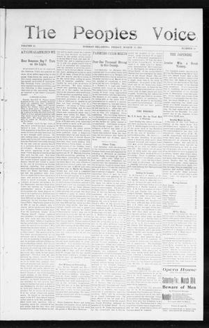 The Peoples Voice (Norman, Okla.), Vol. 13, No. 36, Ed. 1 Friday, March 17, 1905