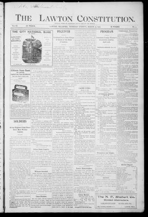 Primary view of object titled 'The Lawton Constitution. (Lawton, Okla.), Vol. 3, No. 3, Ed. 1 Thursday, March 23, 1905'.