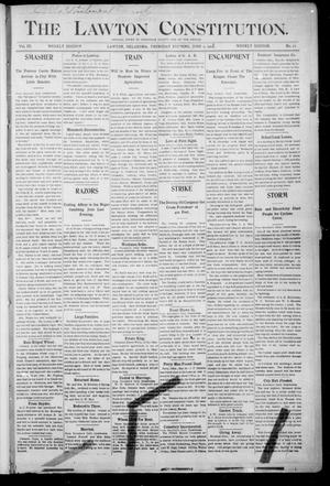 Primary view of object titled 'The Lawton Constitution. (Lawton, Okla.), Vol. 3, No. 13, Ed. 1 Thursday, June 1, 1905'.