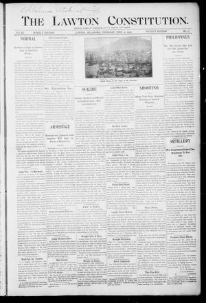 Primary view of object titled 'The Lawton Constitution. (Lawton, Okla.), Vol. 3, No. 16, Ed. 1 Thursday, June 22, 1905'.