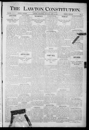 Primary view of object titled 'The Lawton Constitution. (Lawton, Okla.), Vol. 3, No. 17, Ed. 1 Thursday, June 29, 1905'.