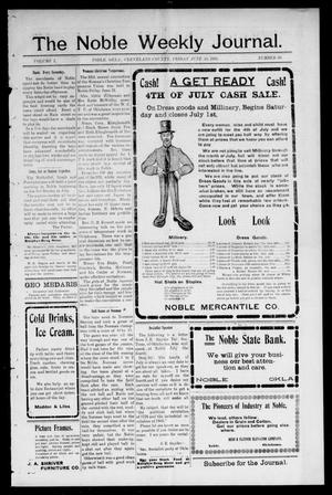 The Noble Weekly Journal. (Noble, Okla.), Vol. 1, No. 38, Ed. 1 Friday, June 30, 1905