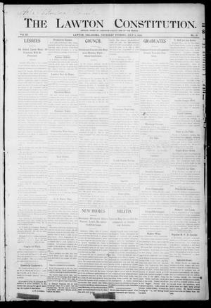 Primary view of object titled 'The Lawton Constitution. (Lawton, Okla.), Vol. 3, No. 18, Ed. 1 Thursday, July 6, 1905'.