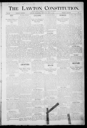 Primary view of object titled 'The Lawton Constitution. (Lawton, Okla.), Vol. 3, No. 19, Ed. 1 Thursday, July 13, 1905'.