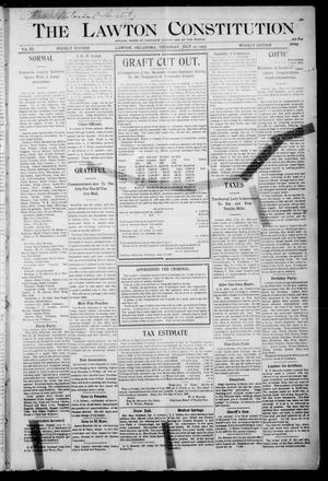 Primary view of object titled 'The Lawton Constitution. (Lawton, Okla.), Vol. 3, No. 20, Ed. 1 Thursday, July 20, 1905'.