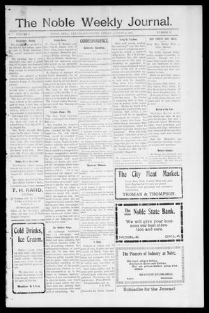 The Noble Weekly Journal. (Noble, Okla.), Vol. 1, No. 43, Ed. 1 Friday, August 4, 1905