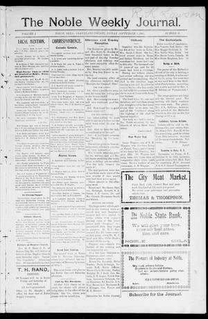 Primary view of object titled 'The Noble Weekly Journal. (Noble, Okla.), Vol. 1, No. 48, Ed. 1 Friday, September 8, 1905'.