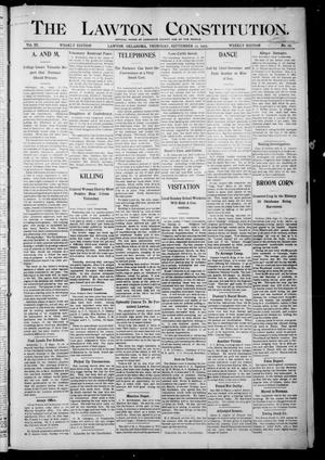 Primary view of object titled 'The Lawton Constitution. (Lawton, Okla.), Vol. 3, No. 29, Ed. 1 Thursday, September 21, 1905'.
