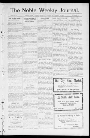 The Noble Weekly Journal. (Noble, Okla.), Vol. 1, No. 50, Ed. 1 Friday, September 22, 1905