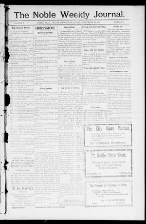 Primary view of object titled 'The Noble Weekly Journal. (Noble, Okla.), Vol. 1, No. 51, Ed. 1 Friday, September 29, 1905'.
