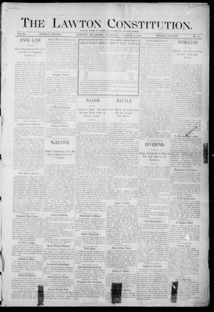 Primary view of object titled 'The Lawton Constitution. (Lawton, Okla.), Vol. 3, No. 31, Ed. 1 Thursday, October 5, 1905'.