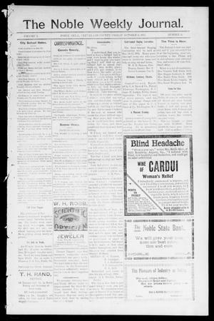 The Noble Weekly Journal. (Noble, Okla.), Vol. 1, No. 52, Ed. 1 Friday, October 6, 1905