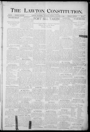 The Lawton Constitution. (Lawton, Okla.), Vol. 3, No. 32, Ed. 1 Thursday, October 12, 1905