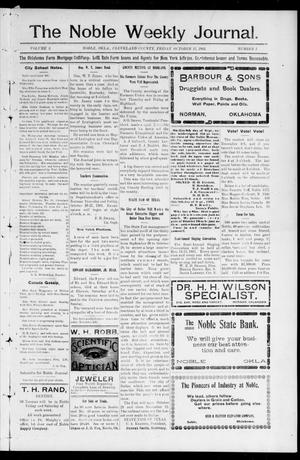 The Noble Weekly Journal. (Noble, Okla.), Vol. 2, No. 1, Ed. 1 Friday, October 13, 1905