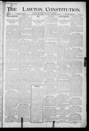 Primary view of object titled 'The Lawton Constitution. (Lawton, Okla.), Vol. 3, No. 35, Ed. 1 Thursday, November 2, 1905'.