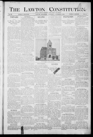 Primary view of object titled 'The Lawton Constitution. (Lawton, Okla.), Vol. 3, No. 36, Ed. 1 Thursday, November 9, 1905'.