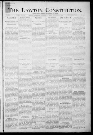 Primary view of object titled 'The Lawton Constitution. (Lawton, Okla.), Vol. 3, No. 41, Ed. 1 Thursday, December 14, 1905'.