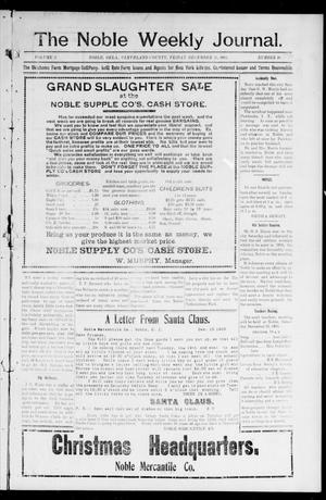 The Noble Weekly Journal. (Noble, Okla.), Vol. 2, No. 10, Ed. 1 Friday, December 15, 1905