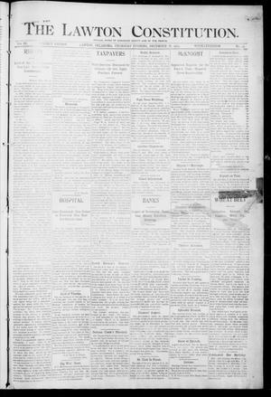 Primary view of object titled 'The Lawton Constitution. (Lawton, Okla.), Vol. 3, No. 43, Ed. 1 Thursday, December 28, 1905'.