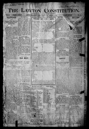 Primary view of object titled 'The Lawton Constitution. (Lawton, Okla.), Vol. 3, No. 43, Ed. 1 Thursday, January 4, 1906'.