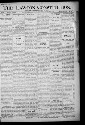 Primary view of object titled 'The Lawton Constitution. (Lawton, Okla.), Vol. 3, No. 49, Ed. 1 Thursday, February 8, 1906'.
