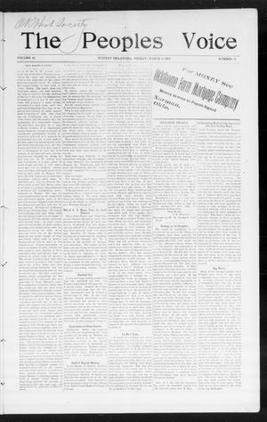 The Peoples Voice (Norman, Okla.), Vol. 14, No. 35, Ed. 1 Friday, March 9, 1906