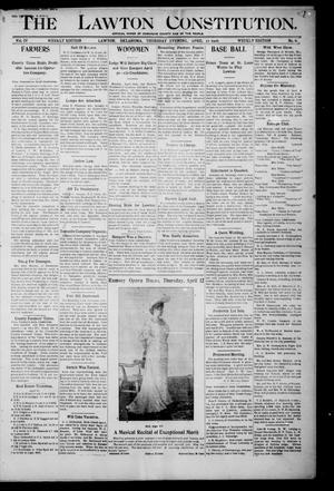 The Lawton Constitution. (Lawton, Okla.), Vol. 4, No. 6, Ed. 1 Thursday, April 12, 1906